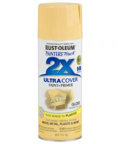 Painter's Touch 2X Ultra Cover Gloss Spray , 12 oz Spray Paint, Gloss Warm Yellow