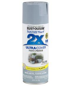 Painter's Touch 2X Ultra Cover Gloss Spray , 12 oz Spray Paint, Gloss Winter Gray