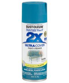 Painter's Touch 2X Ultra Cover Satin Spray, 12 oz Spray Paint, Satin Lagoon