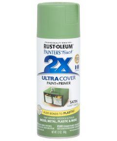 Painter's Touch 2X Ultra Cover Satin Spray, 12 oz Spray Paint, Satin Leafy Green