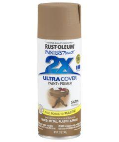 Painter's Touch 2X Ultra Cover Satin Spray, 12 oz Spray Paint, Satin Nutmeg