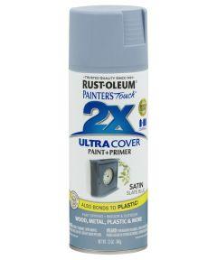 Painter's Touch 2X Ultra Cover Satin Spray, 12 oz Spray Paint, Satin Slate Blue