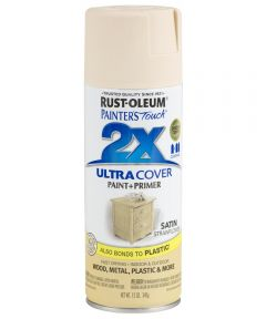 Painter's Touch 2X Ultra Cover Satin Spray, 12 oz Spray Paint, Satin Strawflower