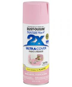 Painter's Touch 2X Ultra Cover Satin Spray, 12 oz Spray Paint, Satin Sweet Pea
