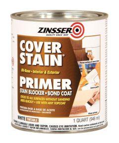 1 Quart Zinsser Cover-Stain Oil-Base White Primer