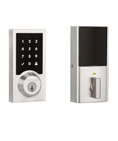 Kwikset SmartCode 916 Contemporary Electronic Smart Lock Deadbolt using Z-Wave Technology, Satin Nickel