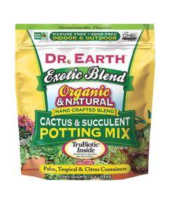 Dr. Earth Organic and Natural Exotic Blend Cactus & Succulent Potting Mix, 4 quarts