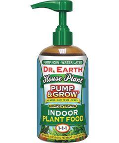 Dr. Earth 8 oz. Pump & Grow Indoor House Plant Liquid Plant Food, 1 – 1 – 1