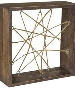 Syndicate 7 in. Air Plant Frame, Natural Wood