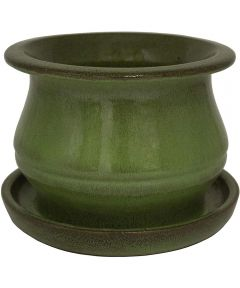 Trendspot 6 in. Studio Ceramic Planter, Green