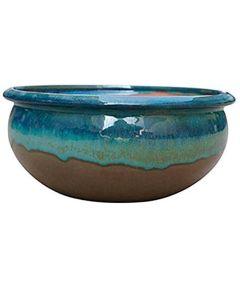 Trendspot 10 in. Ceramic Planter, Blue/Green