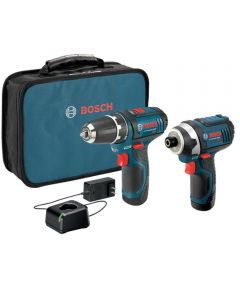 Bosch 12V Max 2-Cordless Tool Combo Kit with 3/8 In. Drill/Driver / Impact Driver / 2 x 2.0Ah Batteries