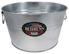 Behrens 5 Gallon High Grade Steel Silver Galvanized Steel Pail