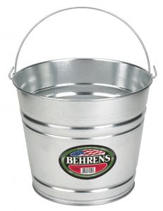 Behrens 12 Quart High Grade Steel Silver Galvanized Steel Pail