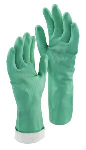 Libman Medium Heavy Duty Latex-Free Nitrile Gloves, Turquoise