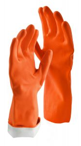 Libman Large Premium Latex Gloves, Orange