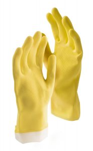 Libman Small All-Purpose Latex Gloves, 2 Pairs, Yellow