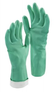 Libman Large Heavy Duty Latex-Free Nitrile Gloves, Turquoise