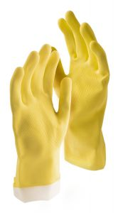 Libman Medium All-Purpose Latex Gloves, 2 Pairs, Yellow