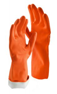 Libman Small Premium Latex Gloves, Orange