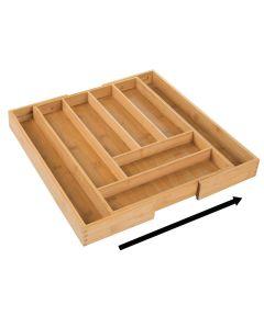 InterDesign Natural Formbu Adjustable Cutlery/Utensil Organizer Tray