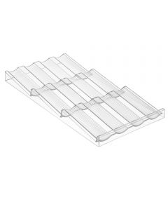 InterDesign Clear Plastic Linus Drawer Spice Holder