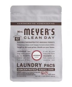 Mrs. Meyer's Clean Day Concentrated Laundry Pods, Lavender Scent, 45 Pacs