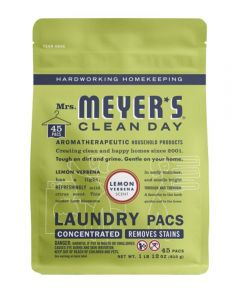 Mrs. Meyer's Clean Day Concentrated Laundry Pods, Lemon Verbena Scent, 45 Pacs