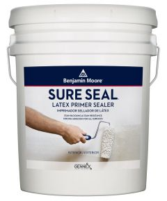 Benjamin Moore Sure Seal Latex Primer Sealer, White, 5 Gallons