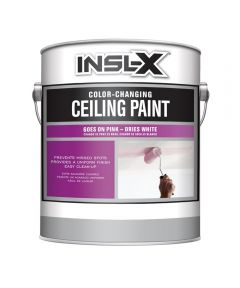 Benjamin Moore INSL-X Color Changing Ceiling Paint, White, 1 Gallon