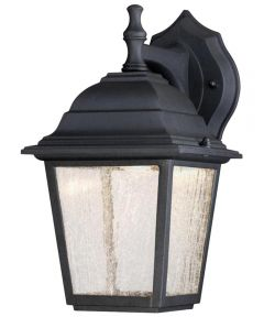 Westinghouse 1-Light LED Outdoor Wall Fixture with Clear Seeded Glass, Black (ENERGY STAR)