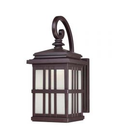 Westinghouse 1-Light LED Outdoor Wall Fixture  with Frosted Glass, Oil Rubbed Bronze
