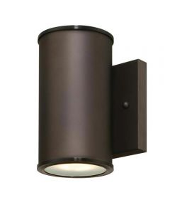 Westinghouse Mayslick 1-Light LED Outdoor Wall Fixture with Frosted Glass Lens, Oil Rubbed Bronze