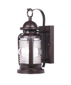 Westinghouse Weatherby 1-Light Outdoor Wall Lantern with Steel & Clear Glass, Weathered Bronze
