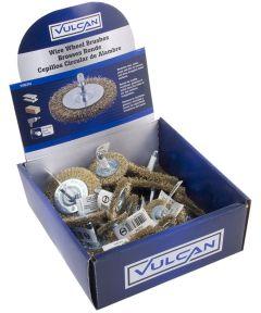 Vulcan Coarse Wire Wheel Brush, Assorted Sizes