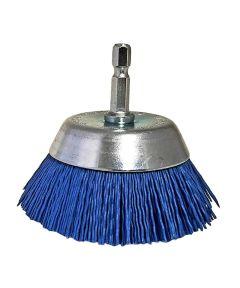 Dico 2.5 in. Wire Cup Abrasive Nylon Bristle Brush