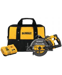 DEWALT 60V MAX* FLEXVOLT 7-1/4 in. Cordless Worm Drive Style Saw Kit with 9.0Ah Battery & Charger
