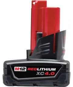 Milwaukee M12 REDLITHIUM XC 4.0Ah Extended Capacity Battery Pack