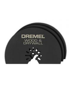 Dremel MM450 Multi-Max Universal Quick-Fit 3 in. Half-Moon Wood & Drywall Oscillating Cutting Blade, 3 Pack