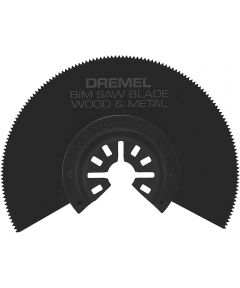 Dremel MM452 Multi-Max Universal Quick-Fit Bi-Metal Half Moon Carbide Flush Wood & Metal Oscillating Cutting Blade, 1 Pack