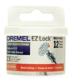Dremel EZ456B Rotary 1-1/2 in. EZ Lock Cut-Off Wheel for Hard Metals, 12 Pack