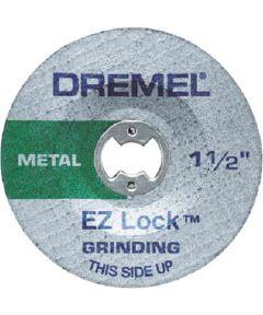 Dremel EZ541GR Rotary 1-1/2 in. EZ Lock Aluminum Oxide Grinding Wheel, 2 Pack