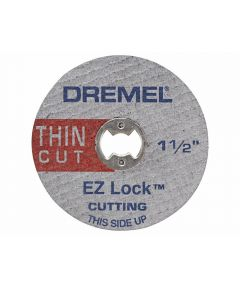 Dremel EZ409 Rotary 1-1/2 in. EZ Lock Cut-Off Wheel for Hard Metals, 5 Pack