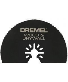 Dremel MM450 Multi-Max Universal Quick-Fit 3 in. Half-Moon Wood & Drywall Oscillating Cutting Blade, 1 Pack