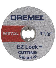 Dremel EZ456 Rotary 1-1/2 in. EZ Lock Cut-Off Wheel for Metal, 5 Pack
