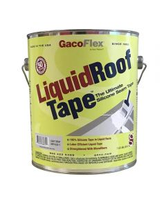 Gaco LiquidRoofTape 1 Gallon Light Gray 100% Silicone Seam Tape in Liquid Form