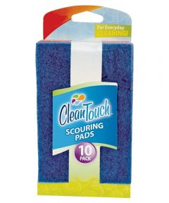 Clean Up Scouring Pads, 10-Pack