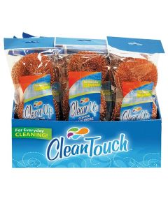 Clean Up Copper Scourer Cleaning Pad, 3-Pack