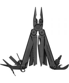 Leatherman Wave + Multi Tool with Nylon MOLLE Sheath, Black