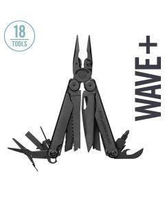 Leatherman Wave + Multi Tool with Nylon MOLLE Sheath, Black
